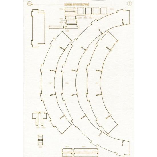 LASER CUTTING FOR ARCHITECTURE PANORAMA MUSEUM DEFENSE 1/150 OREL 131/2
