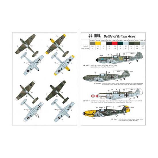 MESSERSCHMITT BF 109E-3 / E-4 BATTLE OF BRITAIN ACES, 2 KITS 1/144 ARMORY 14304